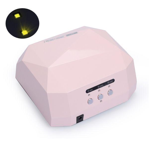 Diamond Smart Sensor 36w Machine Uv Led Lamp For Drying Gel Nail Curing Sun Light Fast Polish Dryer T190624
