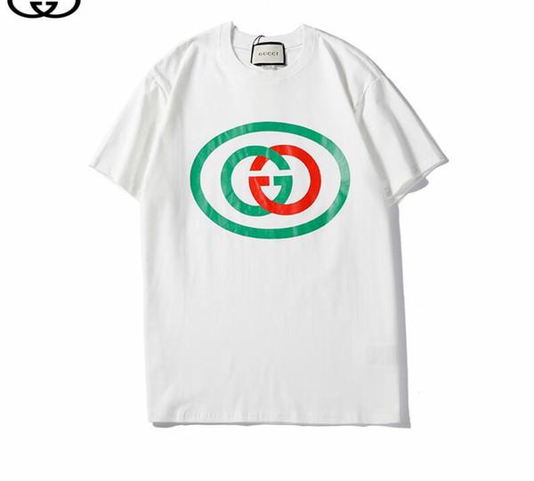 2019 été nouvelle marque Tee manches courtes en coton respirant Hommes Femmes lettre imprimé Casual Outdoor Streetwear T-shirts 039