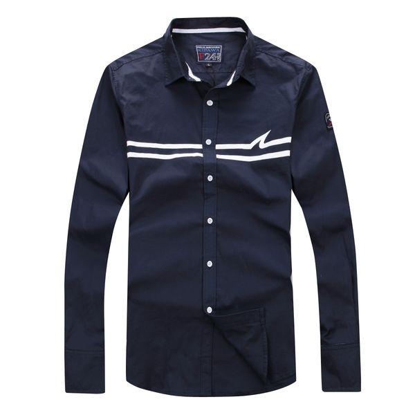 Paul Homme Chemise New Full Sleeve Men Shirt de haute qualité Nice Design Business Casual Style 100% coton Grand Taille M à 3XL Livraison gratuite