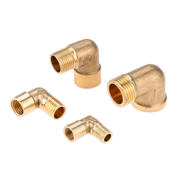 "Cheap Pipe Fittings DRELD 1/8"" 1/4\"" 3/8\"" 1/2\"" BSP Female x Male Thread 90 Deg Brass Elbow Pipe Fitting Connector Coupler For"