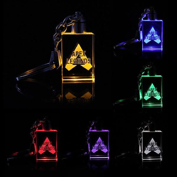 Apex Legends вел детские игрушки реквизит и классический подарочный набор FPS брелок Прохладный металлический кристалл драгоценный камень кулон Игры Анимация Аксессуары светодиодные игрушки