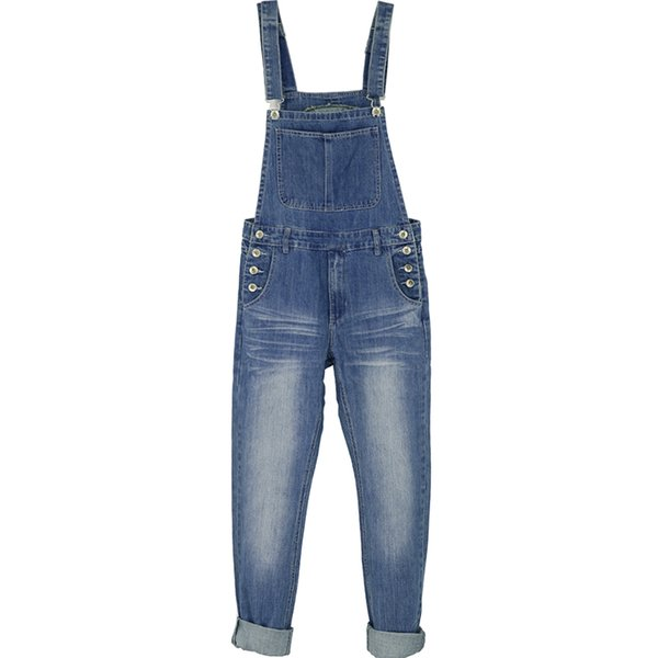 juoksukengät halpa uudet tarjoukset 2019 Slim Straight Men'S Jumpsuit Light Blue Overalls Washed Old Jeans  Trousers From Rachaw, $68.32 | DHgate.Com