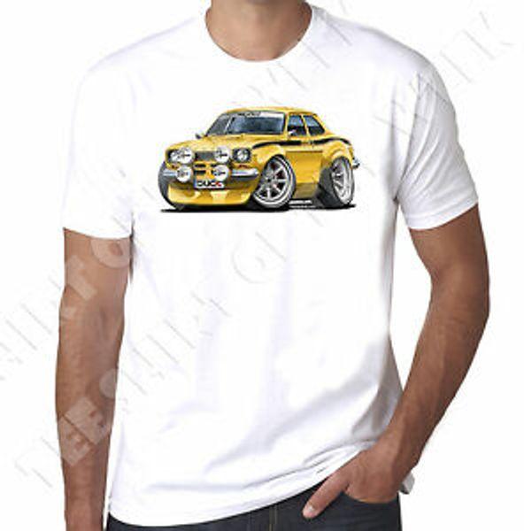 WiSummeredArtz Cartoon Yellow Mk1SummerEscort Mexico Herren T-Shirt 100% Baumwolle Weiß