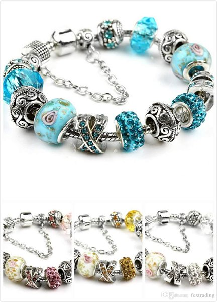 18+3CM New Fashion European Charms Bracelets for Women 925 Silver Snake Chain Bangles DIY Jewelry children's day as a Christmas gift