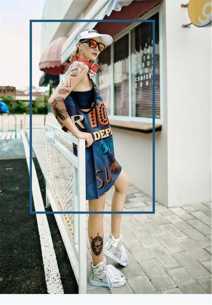 Уличный стиль женские летние платья без спинки с круглым вырезом без рукавов мода хип-хоп женская одежда повседневная одежда