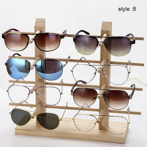 купить оптом 1 шт деревянные солнцезащитные очки стойки полки деревянные прочные очки показать стенд держатель Aic88 отsara001 в категории гараж кит