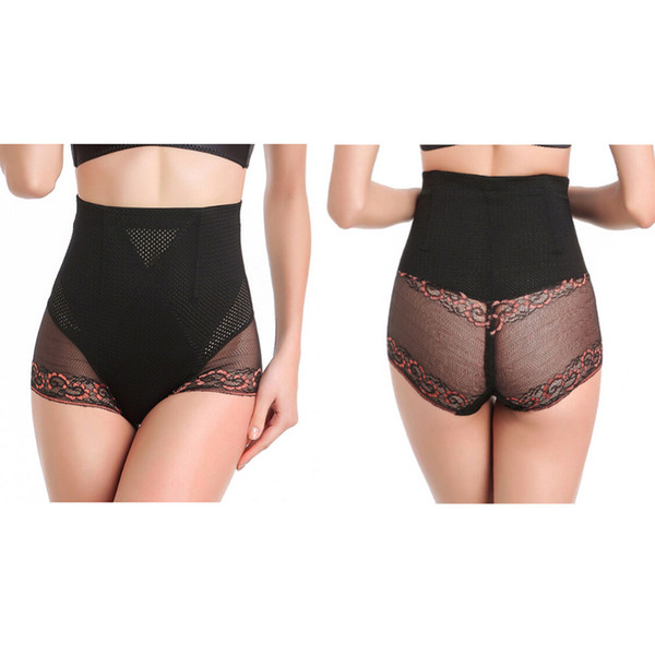 Women High Waist Postpartum abdomen Trainer Panties Ultra-breathable Body sculpting Seamless Large Size Lace underwear Lingerie