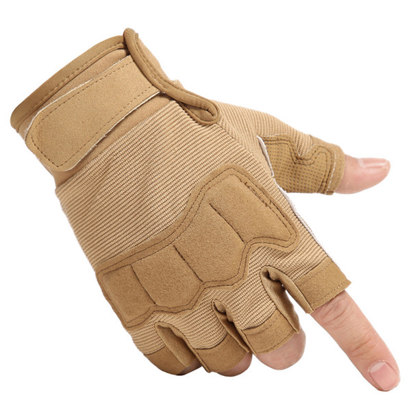Outdoor Tactical Fingerless Gloves Army Shooting Hiking Hunting Climbing Cycling Riding Half Finger Gloves