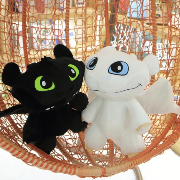 Desdentado Dragão De Pelúcia Boneca Como Treinar O Seu Dragão Brinquedos Noite Fúria Brinquedos 30 cm Anime Peluche Crianças Presente de Aniversário MMA1560