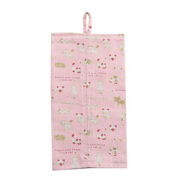 New Cloth Tissue Bag Durable Wall Hanging Home Paper Napkin Holder Car Tissue Storage NE