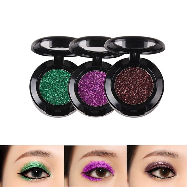 Diamond Glitter Eyeshadow 24 Colors Single Palette Makeup Shimmer Metal Eye Shadow Shine Pigment Cosmetics Eyeshadow Pallete