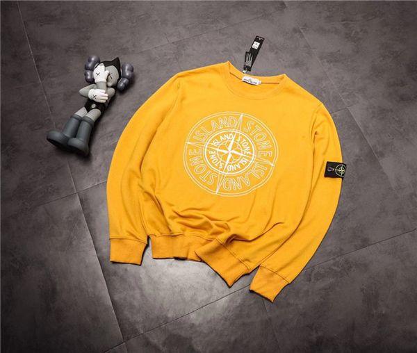 19fw Nuovo lussuoso marchio design bussola giallo nero maglione felpa con cappuccio Uomo Donna Moda casual Streetwear Felpe Camicie da esterno