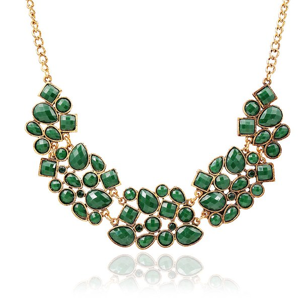 Newest European and American big necklace High-end women's luxury jewel exaggerated necklace Female Clavicle chain