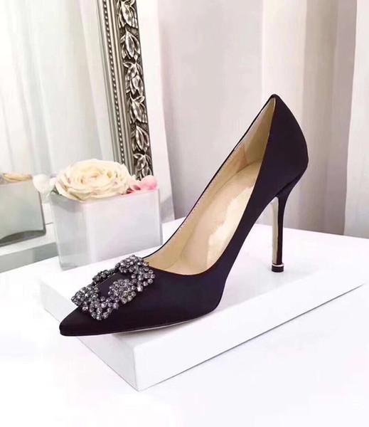 2019 designer pump Scarpe di design di lusso di moda scarpe con tacco a punta in pelle con fondo rosso e scarpe a punta