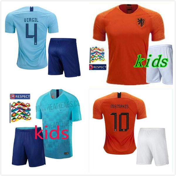 quite nice c710a 9e40a 2019 In Stock!kids Kit 2018 New Nederland Soccer Jersey 1819 Home Orange  Netherlands HOLLAND ROBBEN SNEIJDER V.Persie Dutch Away Football Shirts  From ...