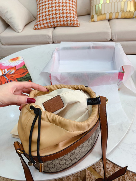 2019 2020 de alta calidad de la lona bolsa con cordón cubo de equipaje esmalte handbaggucci00 bolsos [la lana no arrojar fuera] D2633
