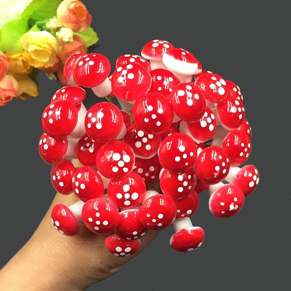 Mini miniature di funghi Giardino artificiale Fata Muschio Resina Artigianato Decorazioni Pali Mestieri per la casa 2,2 cm
