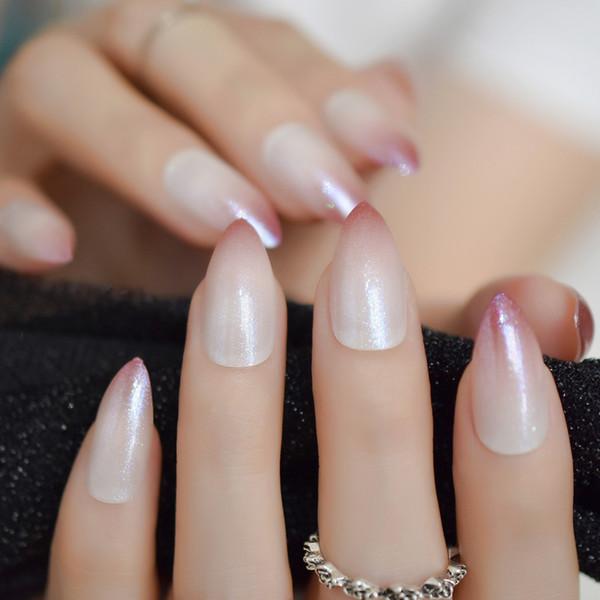 Acheter Stiletto Appuyez Sur Les Pointes Des Ongles Blanc Rose Rouge  Moyenne Couverture Complète Gel UV Artificielle Faux Ongles Art Avec  Décoration