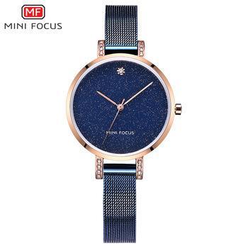 Mini Focus 0160 L Moda Aço Mulheres Relógio De Pulso De Quartzo Pulseira Simples Criativo Jóias Senhoras Relógios