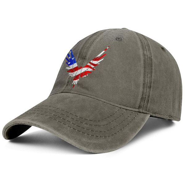 Logan Paul Online video American flag brown mens and womens Denim hats wash dad caps styles custom fitted plain Outdoor Unconstructed Dad c