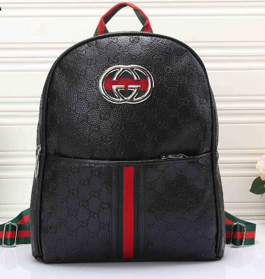 Genuine Leather High Quality men women's Backpack famous Backpack lady backpacks Bags Women Men back pack 0237