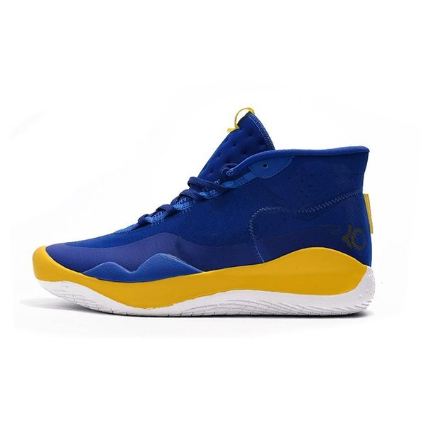 cheap mens kd 12 basketball shoes Floral Flowers MVP Orange Blue Yellow Easter new high top kd12 kevin durant xii sneakers boots