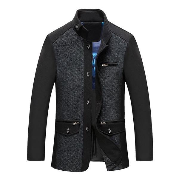 Coupe Fit Hommes Veste Manteaux Longue Slim Outwear Pour De Cachemire Laine Poitrine Acheter Marque Vent Manteau Simple Casual Mâle 0vmnwON8