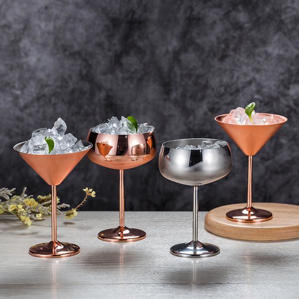 Bicchieri da cocktail in acciaio inossidabile 304 Bicchieri da vino color oro rosa Home Hotel Restaurant Piedi alti Bicchiere da Martini 27zy6 L1