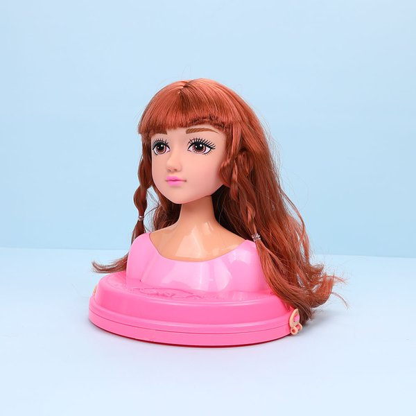 Baby Doll Toy Stylish Hair Style Doll Makeup Headwear Hair Braiding Practice Girls' Toys Hairdressing Beauty Makeup Toy