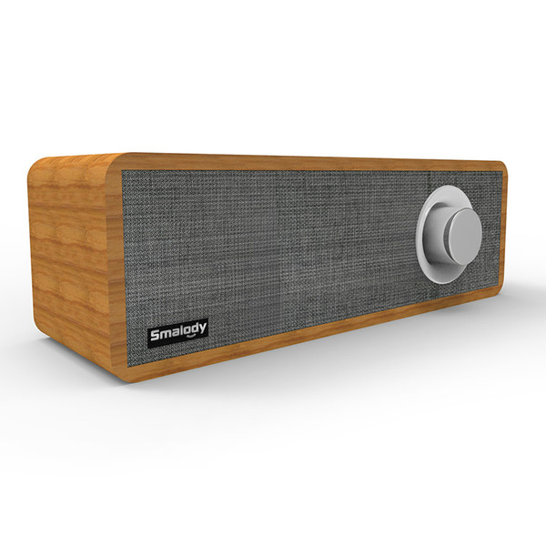 Desktop Wooden Wireless Bluetooth Speaker 8W Portable Mini Soundbar Strong Bass Powerful Sound Box Music Subwoofer