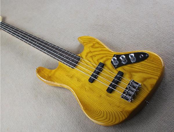2019 новый 4-струнный белый электрическая бас-гитара с рисунком звезды, черный накладка, гриф из розового дерева, могут быть настроены
