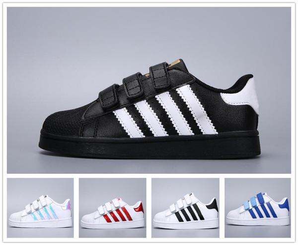 c88451a6a Adidas Superstar Smith Allstar Zapatos de patinaje para niños zapatos de  bebé para niños Superestrellas Zapatillas