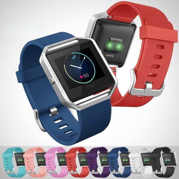 Replacement Silicone Rubber Band Strap Wristband Bracelet For Fitbit Blaze S//L