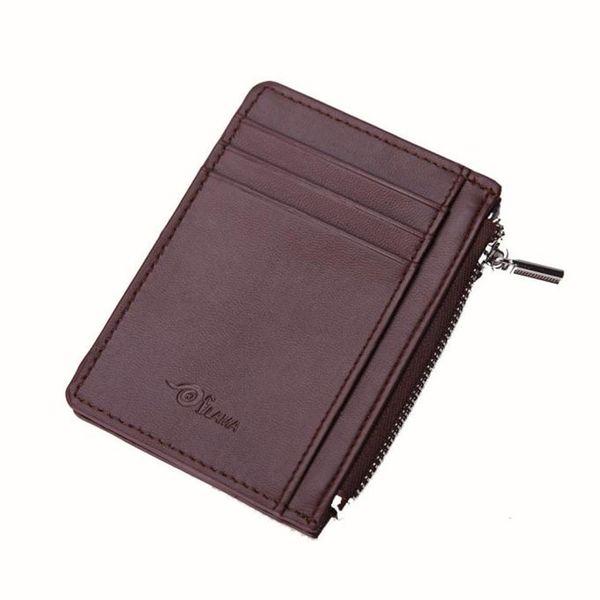 Men Wallets Artificial Leather Card Cash Receipt Holder Organizer Zipper Wallet Money Cash Receipt Holder Organizer Purse
