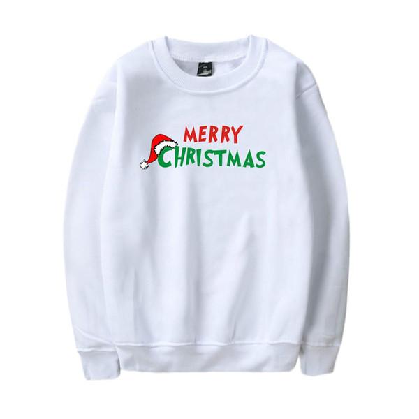 Mujeres largo de la manga de Navidad alphabe impresión camiseta de la blusa de las tapas unisex sudadera Hombre par de sudaderas vetement femme NUEVO