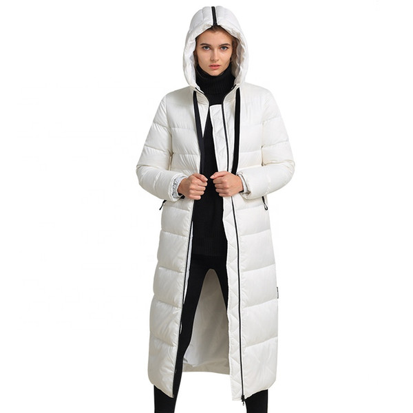 ODM fashion design New down jacket high end womens white down jacket Customized filled sweater Manufacturer