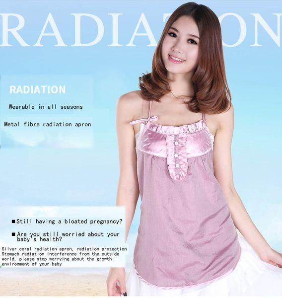 Trajes de protección contra la radiación de fibra de plata trajes de protección contra la radiación de estilo chino que cubren el pecho maternidad primavera y verano