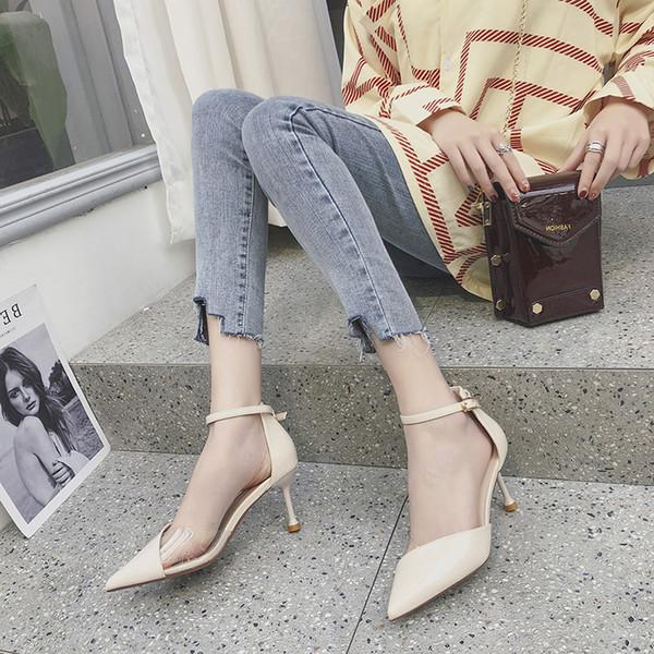 Verano y otoño 2009 Zapatos de cuero huecos pintados de primera calidad Zapatos de mujer europeos y americanos transparentes 100 Sandalias de comercio exterior Moda pero