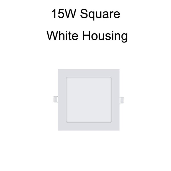 15W Square White Housing