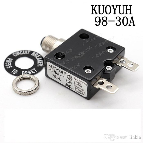 top popular Taiwan KUOYUH 98 Series-30A Overcurrent Protector Overload Switch 2021