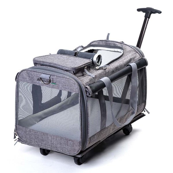 KAWEIDA Foldable pet Rolling Luggage Spinner Cat and dog Suitcase Wheels 20 inch Carry on Trolley pets Travel Bag on wheel