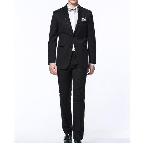 Wedding Costume For Men Groom Tuxedos Groomsman Suits Men Business Suit Suit Formal Slim Fit Skinny 2 Pieces(Jacket+Pants)