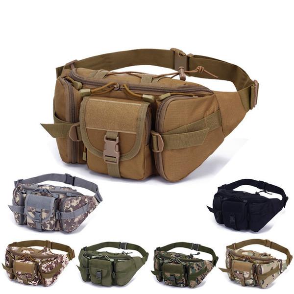 Army fan bag deportes para hombres al aire libre de gran capacidad a prueba de agua bolsillos tácticos ciclismo de viaje corriendo bolsa de cofre multifunción