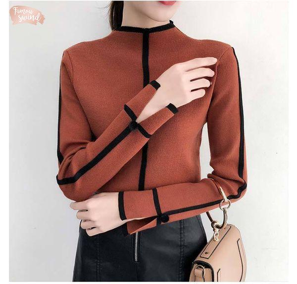 Female Sweater Soft Korean Style Skinny Winter Turtleneck Bodycon Basic Pullovers Long Sleeve Pull Femme Coat Top Female