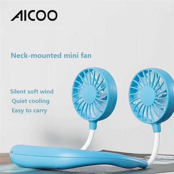 AICOO Ventilateur de sport portable monté sur le cou à trois vitesses réglable USB à charge de charge universelle pour ventilateur universel