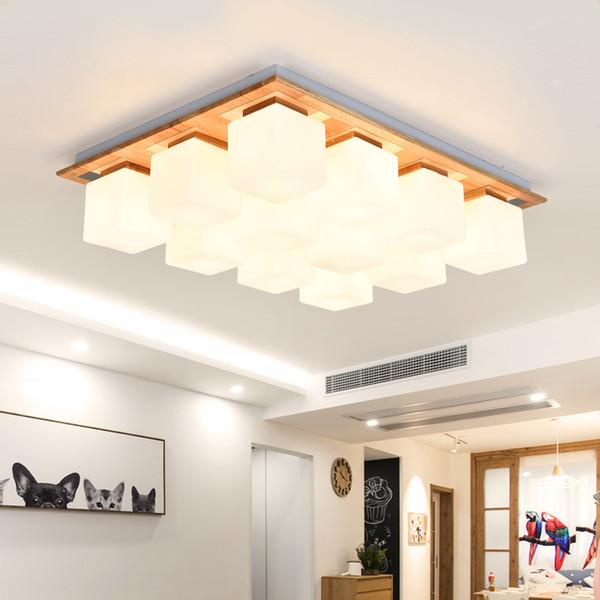Großhandel 2019 NEUE Nordic LED Deckenleuchten Moderne Holzleuchten Balkon  Deckenleuchte Schlafzimmer Leuchten Restaurant Lampe Deckenbeleuchtung Von  ...