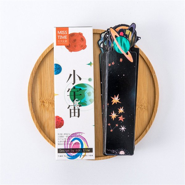 30pcs Planet Bookmark Cute Stationery Message Card Creative Sky Bookmark Paper Dividers Book Page Holder School Office Supplies