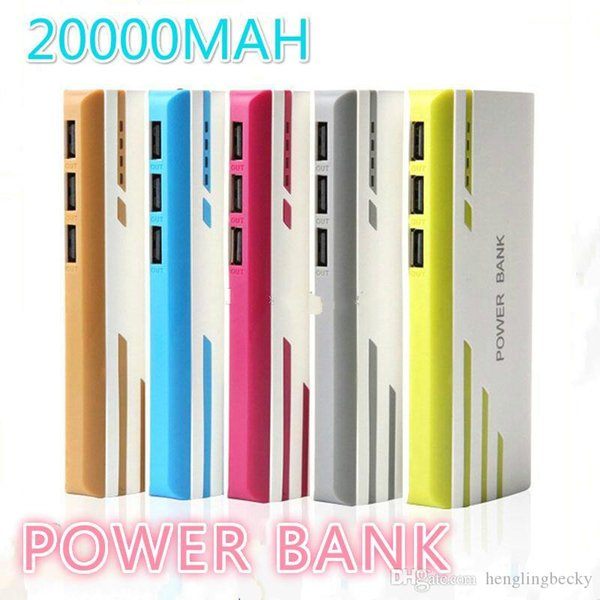 top New Style Romoss 20000mAh Power Bank 3USB External Battery With LED Portable Power Banks Charger For iPhone 6s Samsung s6 Android Phones