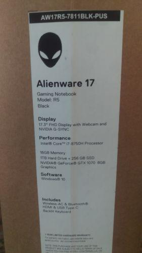 2018 Alienware AW17R5 7811BLK PUS 17 3 Laptop Core I7 8750 16GB Memory  256GB SSD + 1TB GTX 1070 GSync From Liangfu94412, &Price