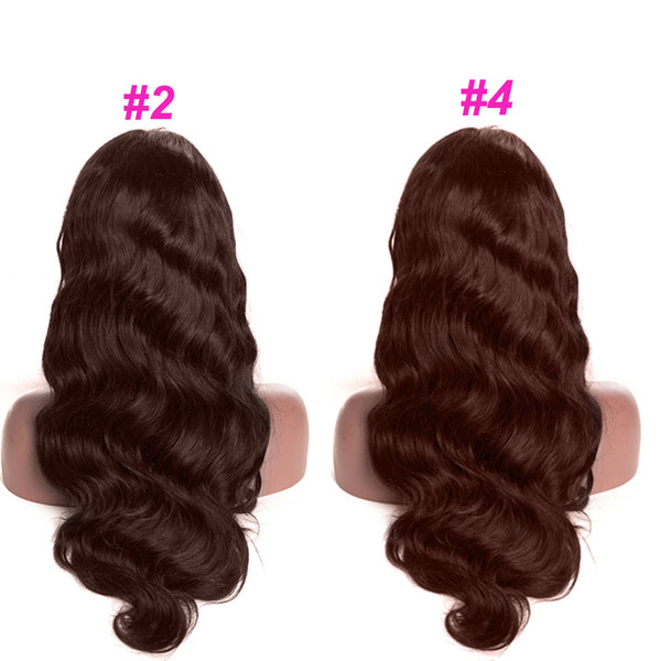 Human Hair Lace Front Wigs Colored Brown Body Wave Lace Front Human Hair Wigs For Black Women Brazilian Body Wave 13x6 Lace Wig